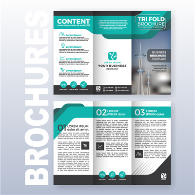 Text Stock Digital Brochures