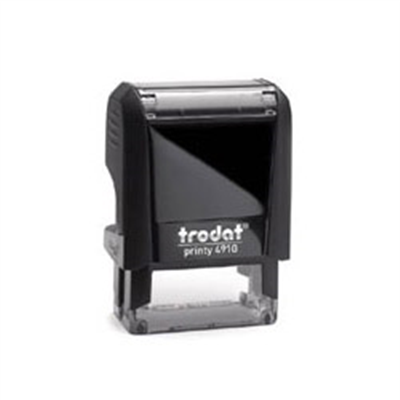 "Self Inking Rectangle 1"" x 0.375"" - Trodat 4910 Stamp"